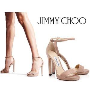 JIMMY CHOO Misty 120 Platform Ballet Pink Suede